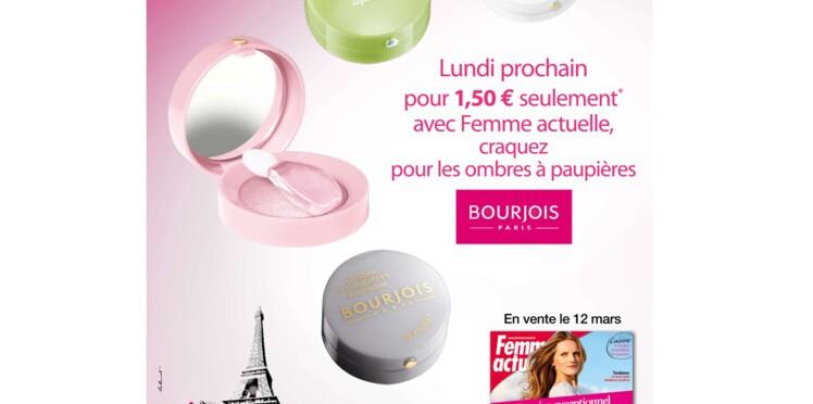 Découvrez le look Bourjois dans le pocket Femme Actuelle