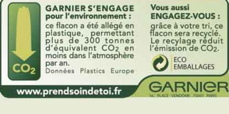 Des emballages écolos chez Garnier