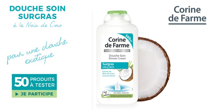 Testez la Douche Soin à l'extrait de noix de coco Corine de Farme