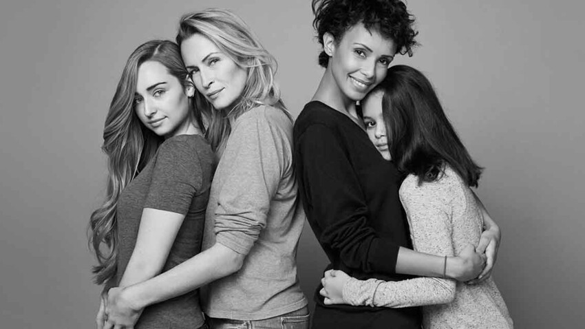 Estelle Lefébure et Sonia Rolland prennent la pose avec leurs filles pour Mixa