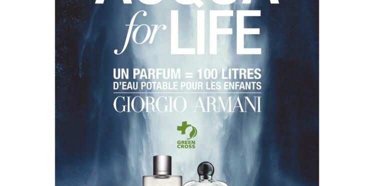 Deux éditions limitées de fragrances Giorgio Armani pour promouvoir l'accès à l'eau potable