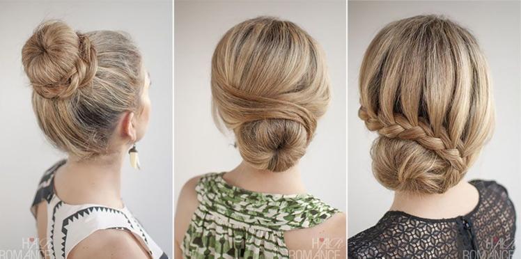 3 coiffures faciles avec un donut