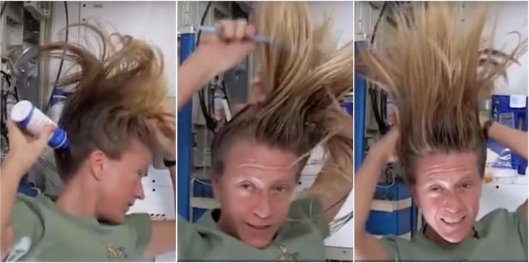 L'astuce d'une astronaute pour laver ses cheveux en apesanteur