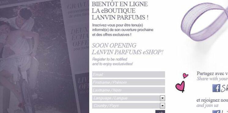 Lanvin Parfums s'apprête à lancer sa boutique en ligne