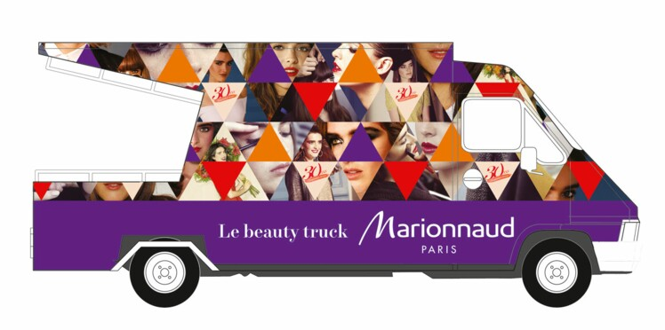 On court découvrir le truck Marionnaud !