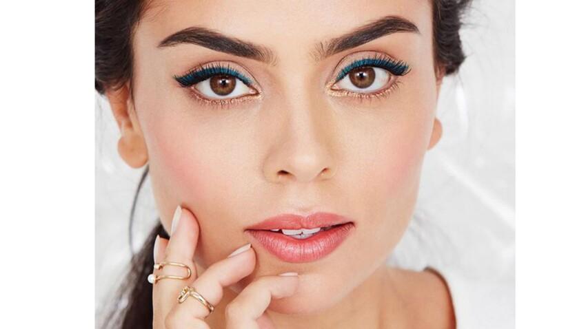 Le look make-up de la semaine : le regard bleu et or