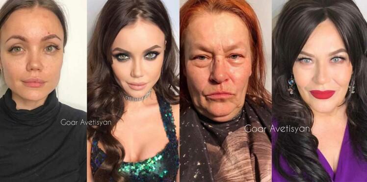 PHOTOS - Les avant/après impressionnants réalisés par une jeune maquilleuse