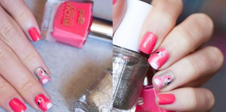 Nail art : la tendance flamant rose jusqu'au bout des ongles