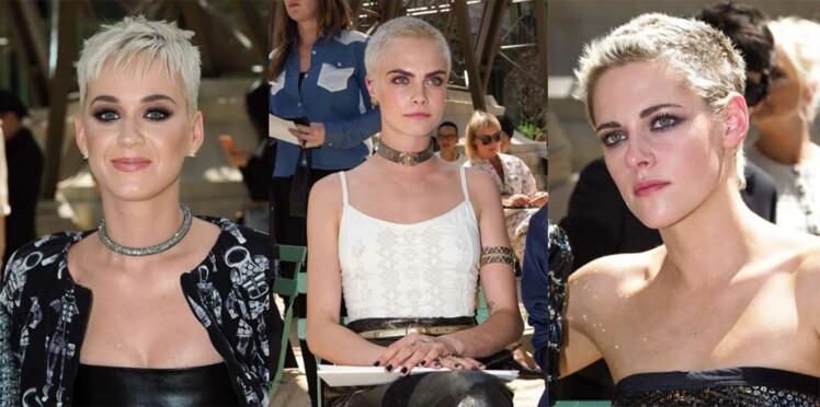 PHOTOS - Katy Perry, Cara Delevigne et Kristen Stewart : toutes le même look au défilé Chanel
