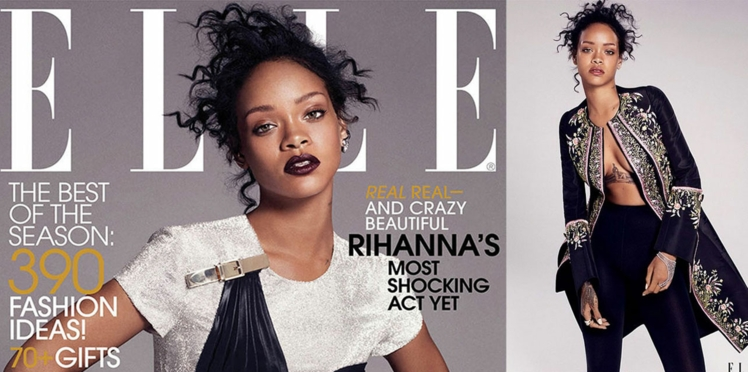 Rihanna sublime en couverture du ELLE américain