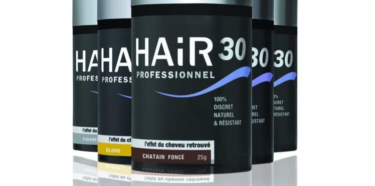 Hair30 Professionnel, une poudre magique pour les cheveux clairsemés