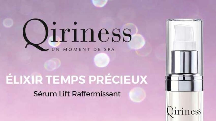Testez le nouveau Sérum Lift Raffermissant Qiriness, avec Femme Actuelle Beauté Addict
