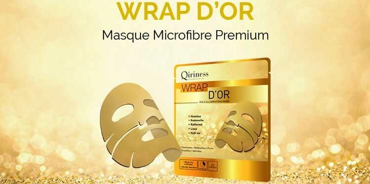 Testez le nouveau masque Wrap d'Or Qiriness avec Femme Actuelle Beauté Addict