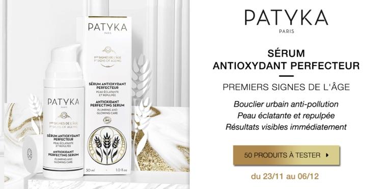 Testez le Sérum Antioxydant Perfecteur Peau Éclatante et Repulpée de Patyka