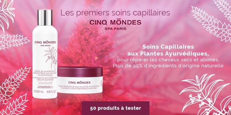 Testez le Shampooing aux Plantes Ayurvédiques et le Masque Cheveux Réparateur Cinq Mondes