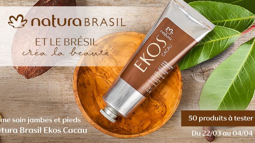 Testez la crème Soin Jambes et Pieds Ekos Cacau de Natura Brasil