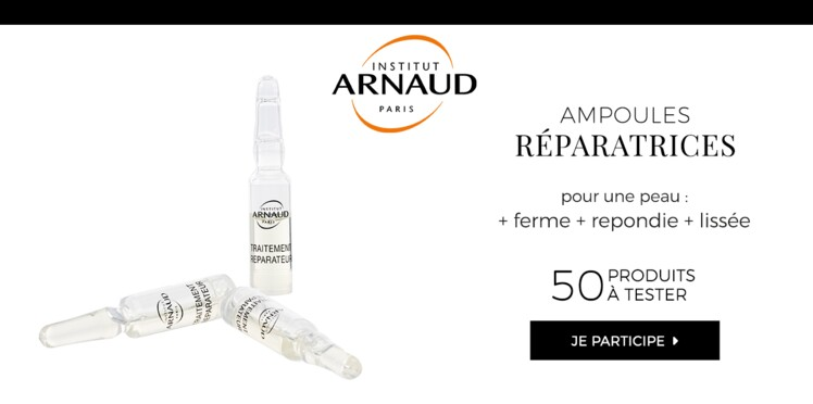 Testez les Ampoules Réparatrices Nutri-Régénérantes Institut Arnaud