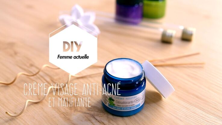 Vidéo - DIY : une crème visage anti-acné et matifiante