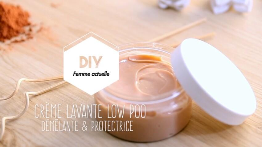 Vidéo DIY : crème lavante low poo pour cheveux secs