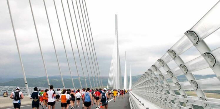 Une course à pied à 270 mètres du sol, sur le Viaduc de Millau