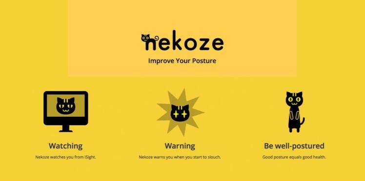 Nekoze : une appli pour ne pas avoir mal au dos devant l'ordinateur