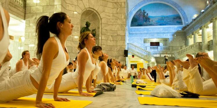 Une séance de yoga gratuite au Grand Palais