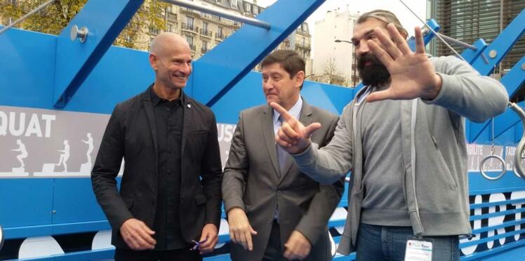 Sébastien Chabal inaugure un nouveau programme de fitness