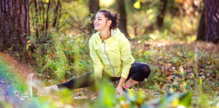 Je fais du sport en forêt