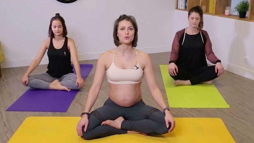 30 minutes de cours de yoga pour femme enceinte