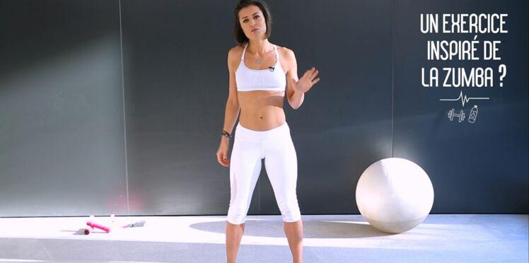 Un exercice inspiré de la zumba pour affiner les cuisses et la taille