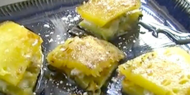 Ananas rôti au rhum et noix de coco à la plancha