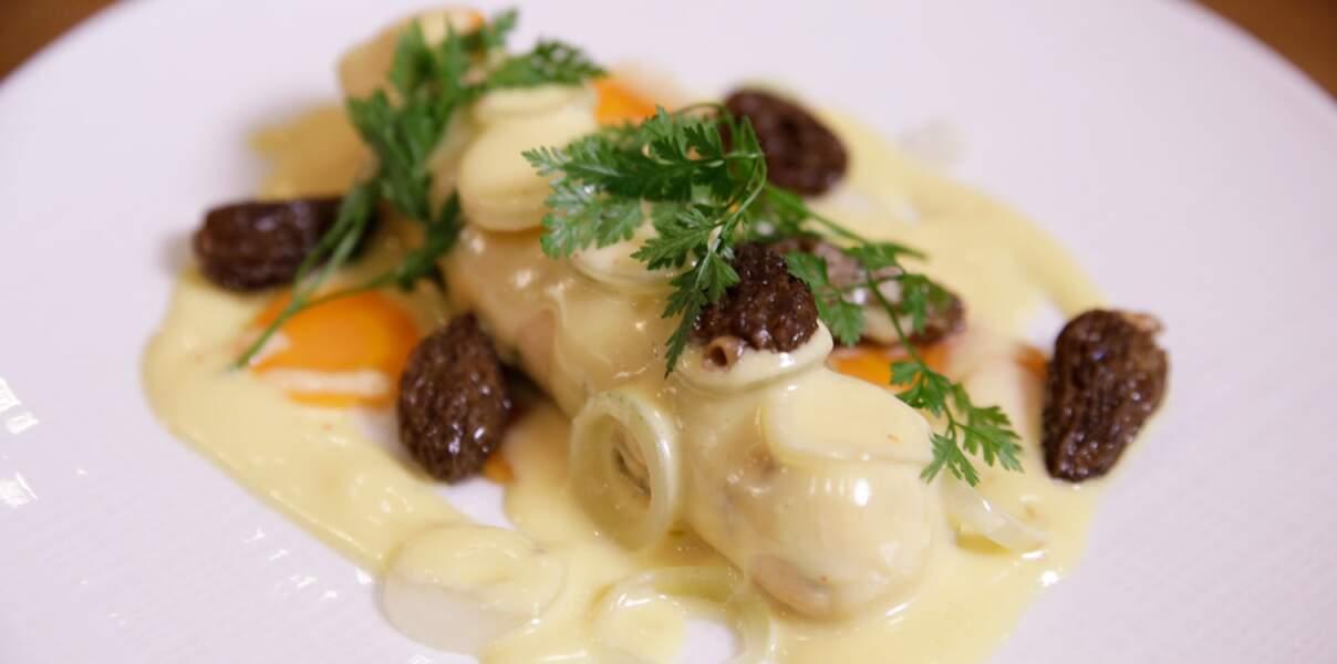 Boudin blanc de homard aux morilles (vidéo)