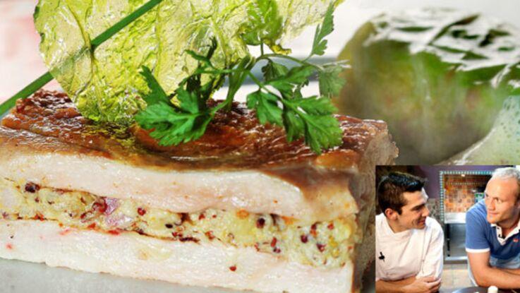 Julien Bonnaire cuisine une pintade auvergnate avec le chef Mathieu Barbet