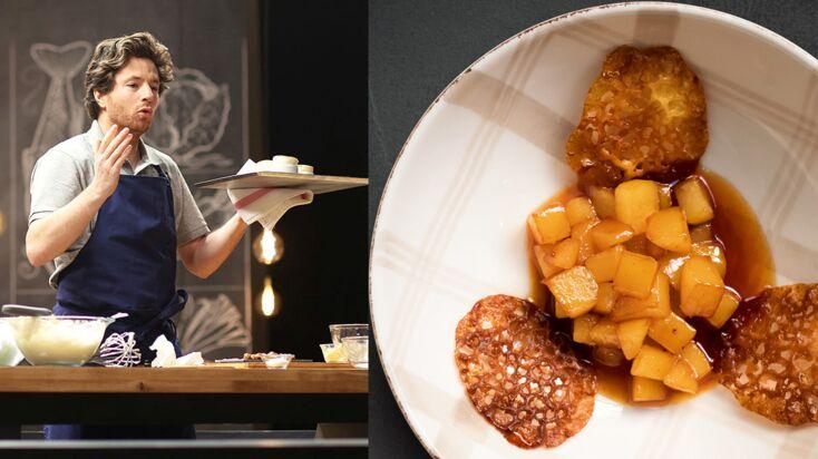 Poires caramélisées et tuiles aux amandes en 14 min. par Jean Imbert