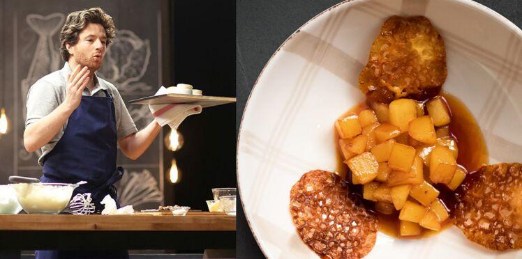 Poires caramélisées et tuiles aux amandes en 14 min par Jean Imbert