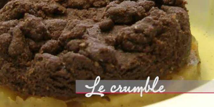 La recette du crumble au chocolat, pommes, poires et bananes