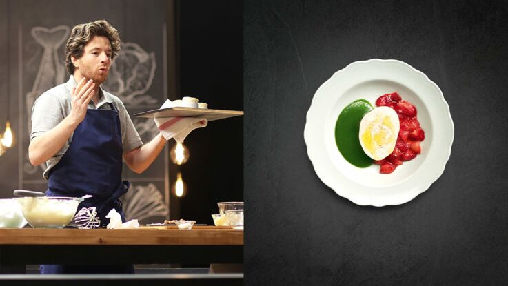 Une recette de mozzarella à la fraise en 14 minutes avec Jean Imbert