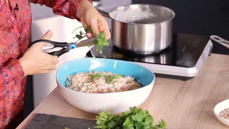 Risotto de quinoa au lait de coco pour un plat exotique et gourmand
