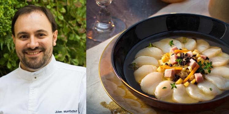 Les saint-jacques cuisson minute du chef Julien Montbabut