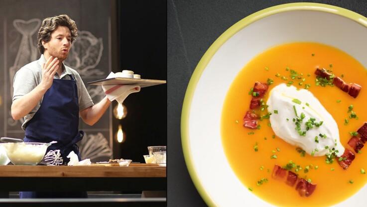 Soupe de potimarron et sa chantilly vanille en 14 min. par Jean Imbert