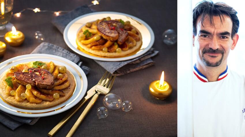 La tarte fine aux pommes et foie gras de Guy Krenzer (Lenôtre)