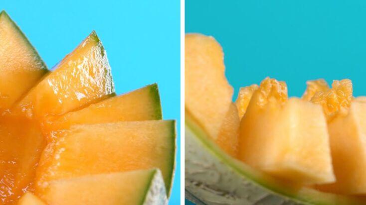 2 façons sympas de couper le melon