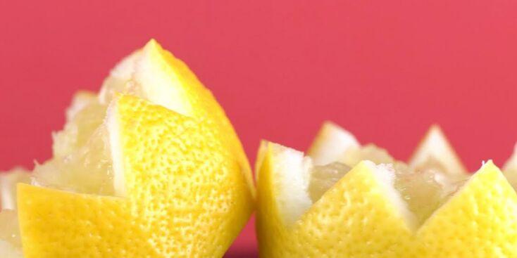 Comment couper un citron en dents de loup