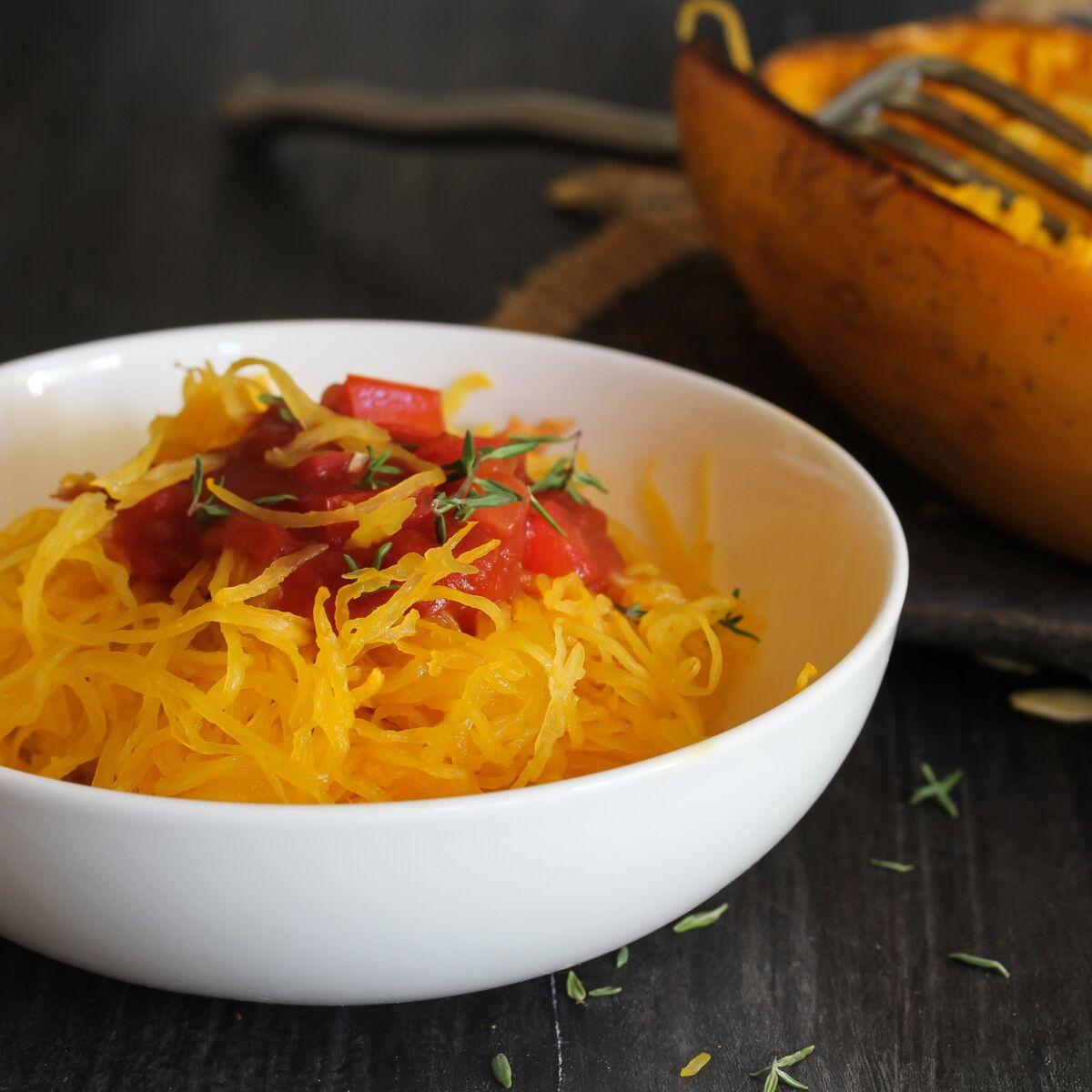 Comment Cuisiner La Courge Spaghetti Femme Actuelle Le Mag