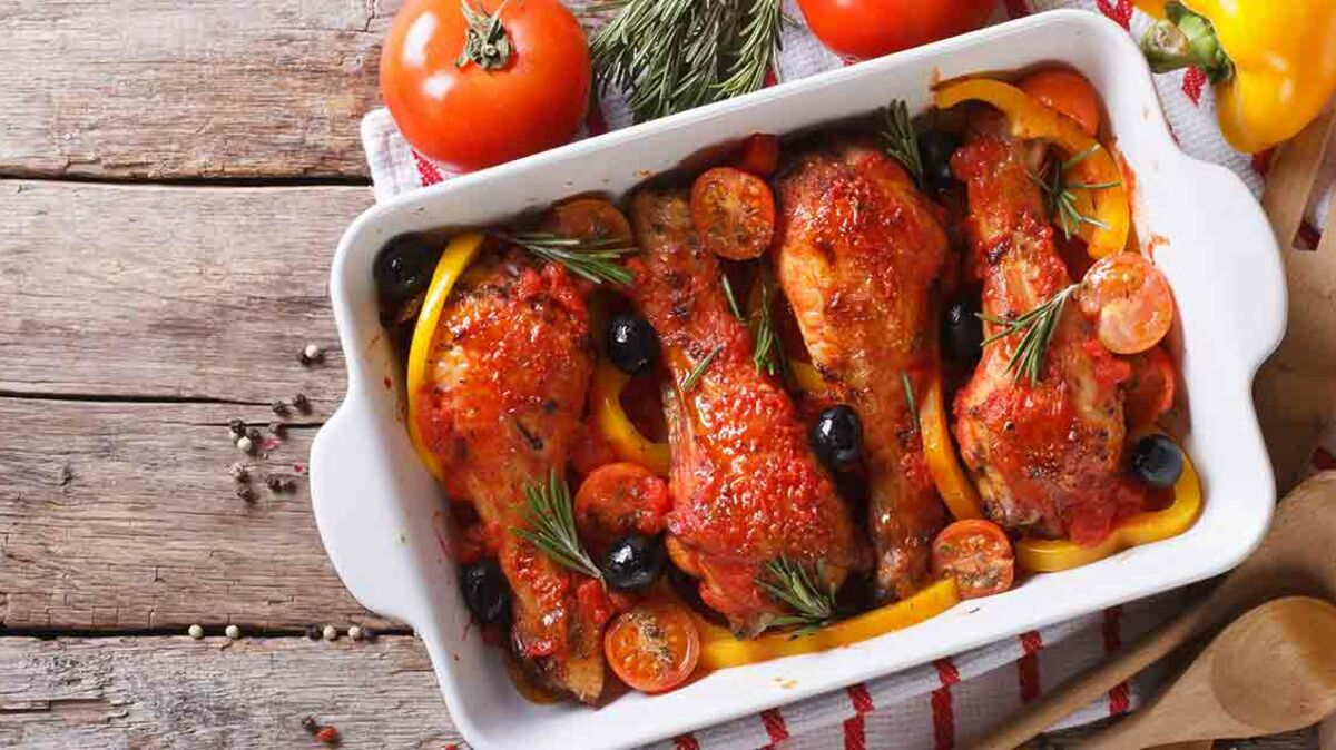 Cuisses de poulet aux olives