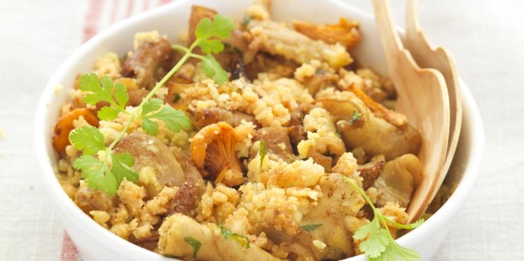 Crumble de Fraise de Veau aux épices et champignons