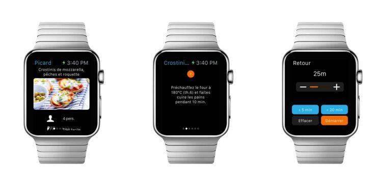 Cuisinez connecté avec l'appli Picard sur Apple Watch !