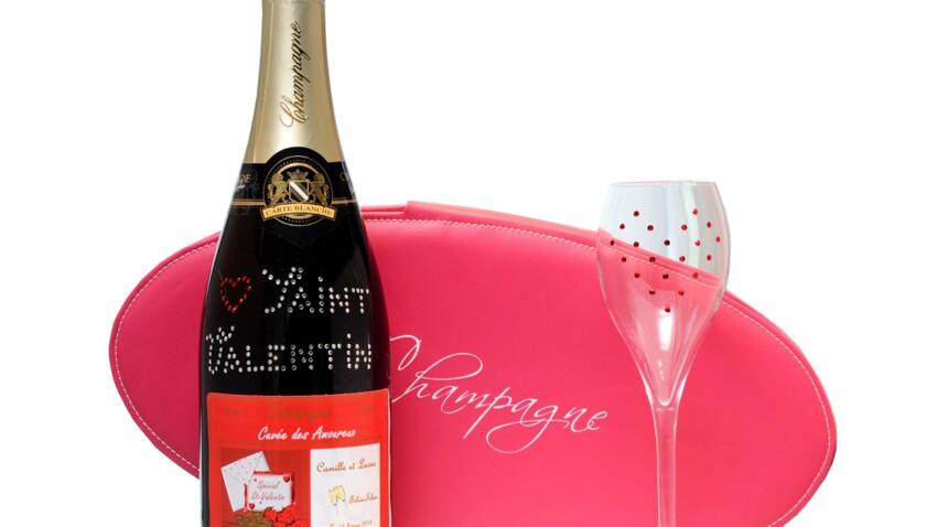 Personnalisez votre bouteille de champagne pour la Saint-Valentin
