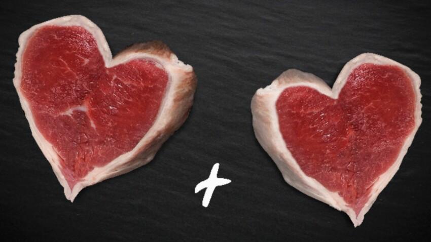 Cadeau de Saint-Valentin pour amoureux de viande