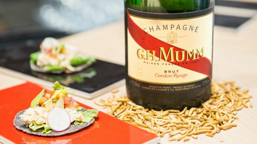 Champagne et asticots : un accord à découvrir !